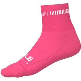 Alé Cycling Logo Cycling Socks 8cm pink/white